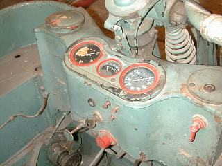 Dashboard with original instruments